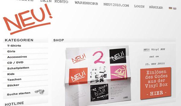 NEU! Shop Online