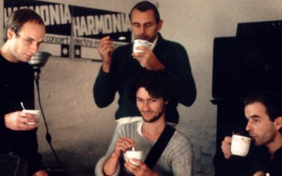 Harmonia & Eno 1976, Brian Eno, Michael Rother, Hans-Joachim Roedelius, Dieter Möbius, Möbi, Grönland Records, groenland records, Berlin, Forst